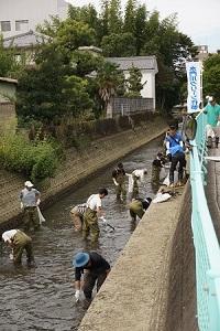 西濃地協 「環境クリーンキャンペーン」北地区水門川クリーン作戦に参加!