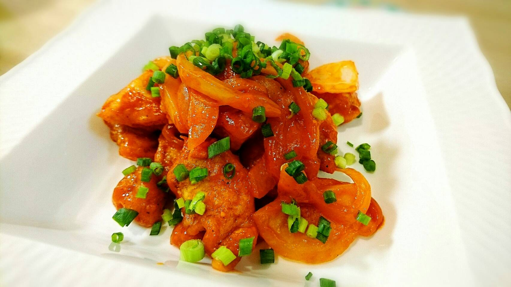 【家庭料理】鶏肉のケチャップ炒め