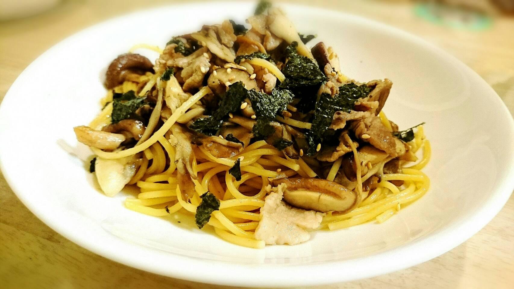 【パスタレシピ】超簡単 キノコたっぷり和風スパゲティー