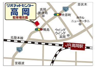 高岡店地図