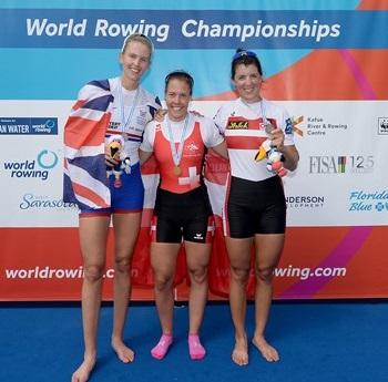 2017世界選手権W1X表彰式 World Rowingより