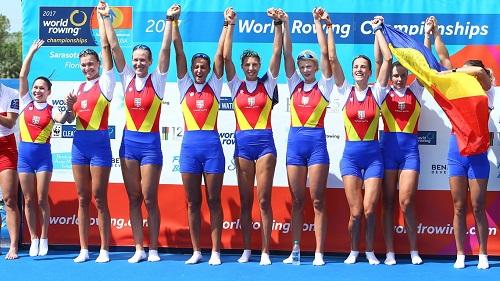 2017世界選手権 W8_表彰式 romaniaインサイダーcomより Romania-team-Rowing-Championships