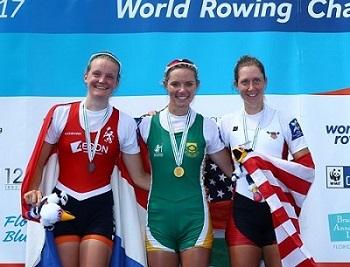 2017世界選手権LW1X表彰式 World Rowingより