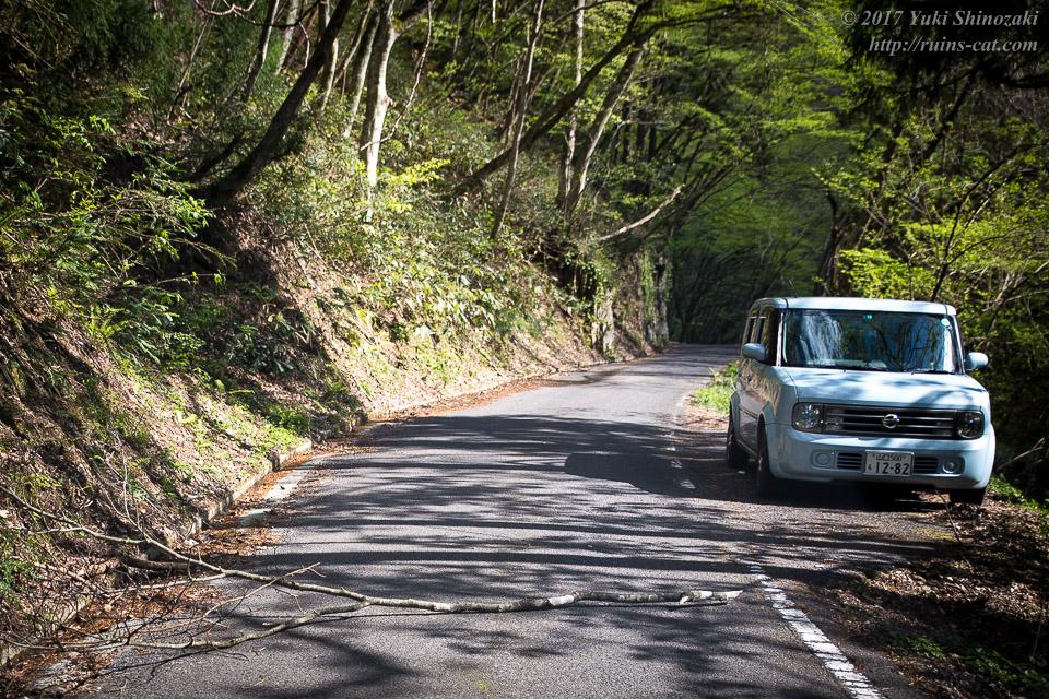 国道488号線 広島県側の様子