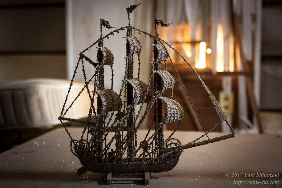 海賊船の模型