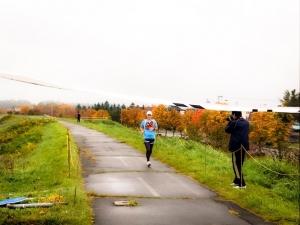 町民健康マラソン 妻も頑張りました。