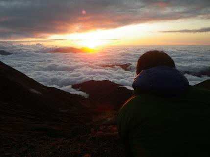 富山の夕焼け