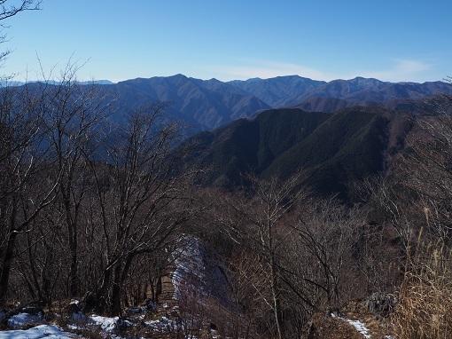 長沢背稜と雲取山