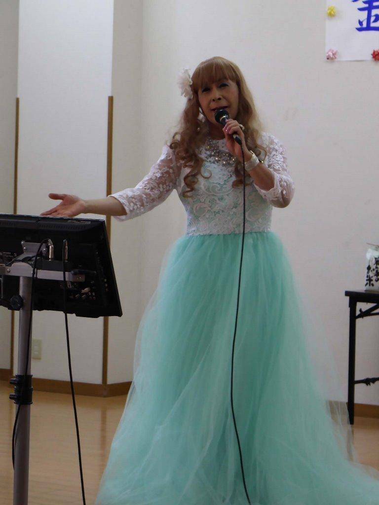 薄緑ドレス舞台(7)