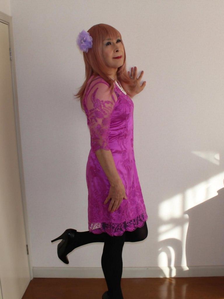 紫のレースワンピA(9)