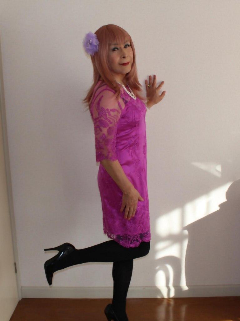 紫のレースワンピA(8)