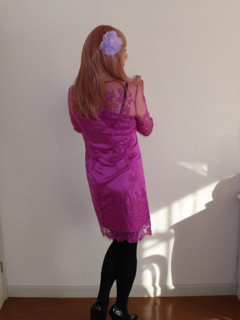 紫のレースワンピA(11)