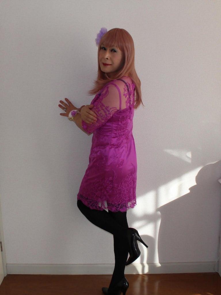 紫のレースワンピA(12)