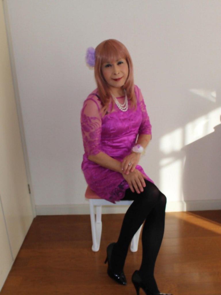 紫のレースワンピB(8)