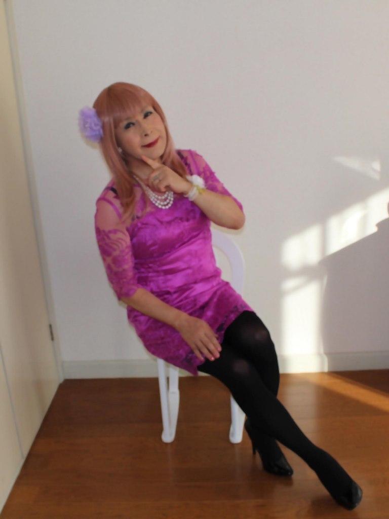 紫のレースワンピB(9)