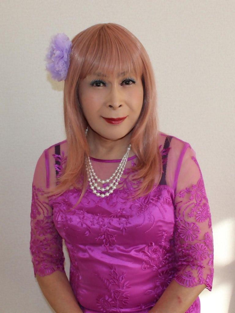 紫のレースワンピC(1)