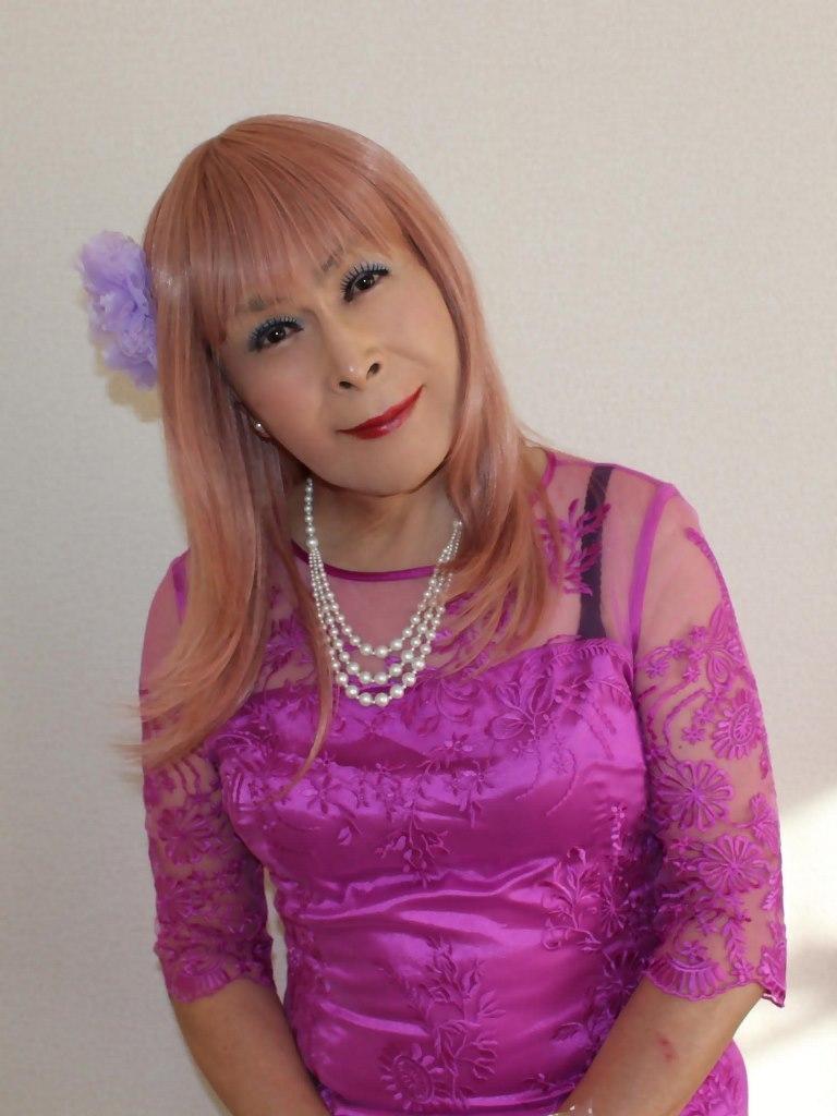 紫のレースワンピC(2)