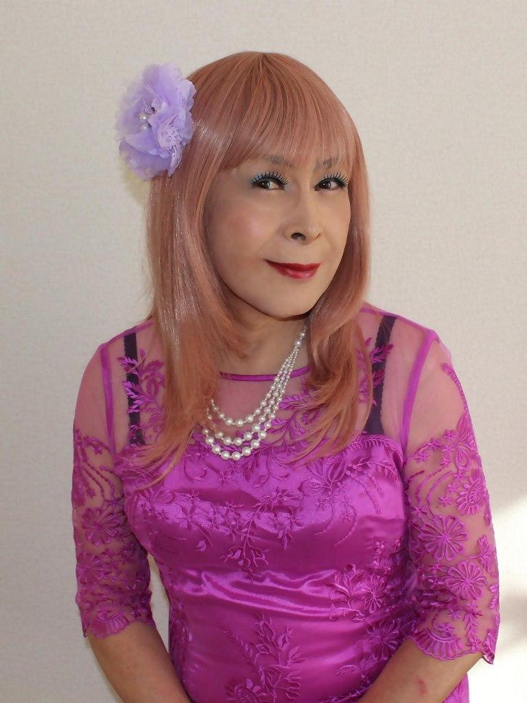 紫のレースワンピC(3)