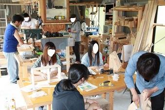 秋の木工教室