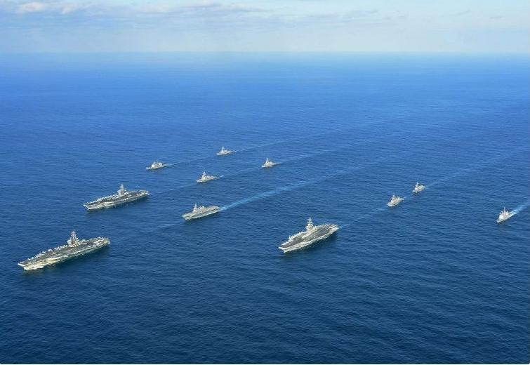 日米共同訓練日本海