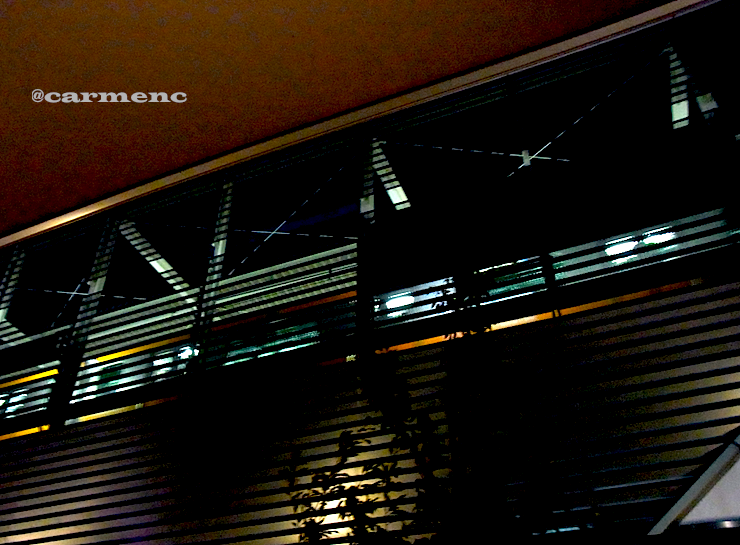 小金井駅を見上げる