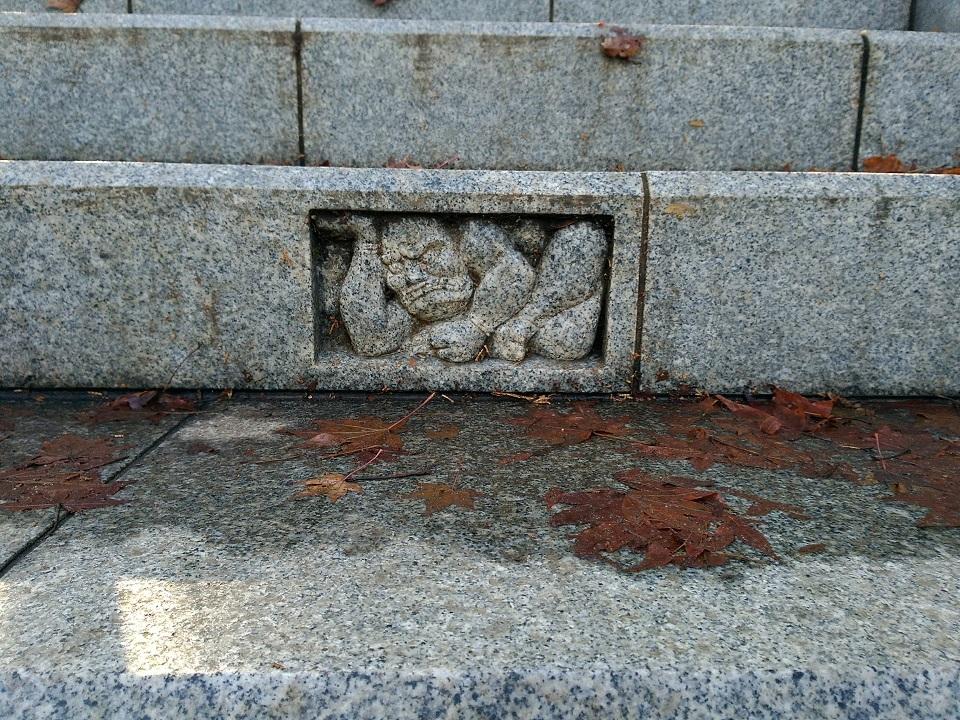 武蔵御嶽神社階段の邪気