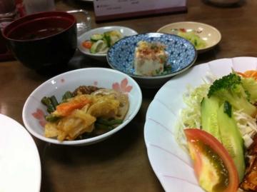 更にひと口天ぷらと煮物