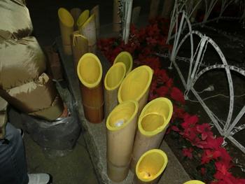 1竹灯り準備