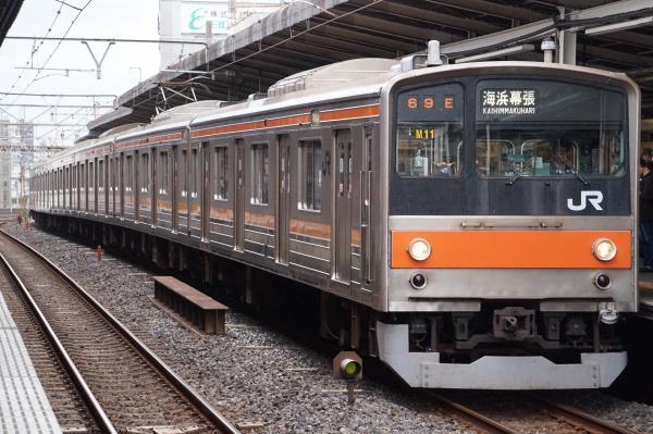 2017-10-08 武蔵野線205系ケヨM11編成 海浜幕張行き
