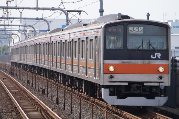 2017-10-08 武蔵野線205系ケヨM19編成 南船橋行き