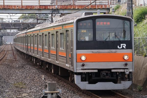 2017-10-08 武蔵野線205系ケヨM36編成 東京行き
