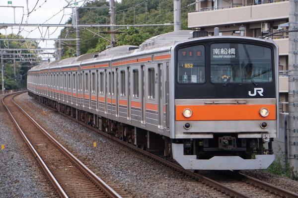 2017-10-08 武蔵野線205系ケヨM52編成 南船橋行き