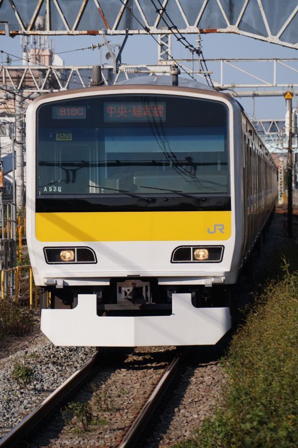 2017-11-05 総武線E231系ミツA520編成 千葉行き