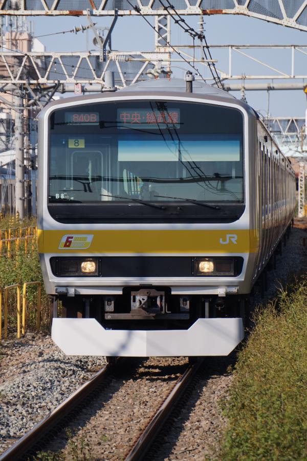 2017-11-05 総武線E231系ミツB8編成 千葉行き