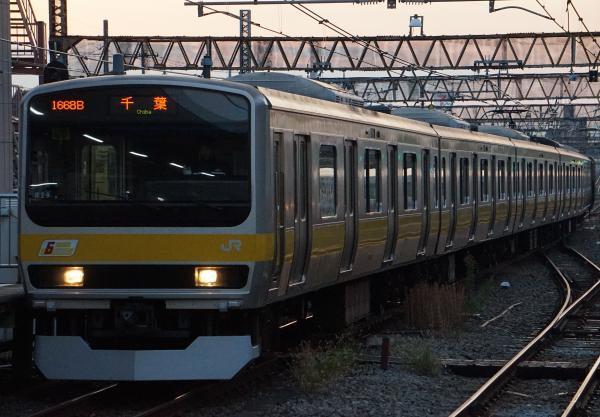2017-11-05 総武線E231系ミツB29編成 千葉行き1