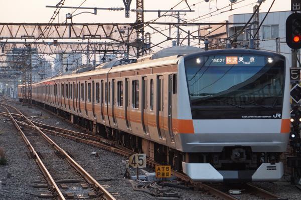 2017-11-05 中央線E233系トタT12編成 快速東京行き