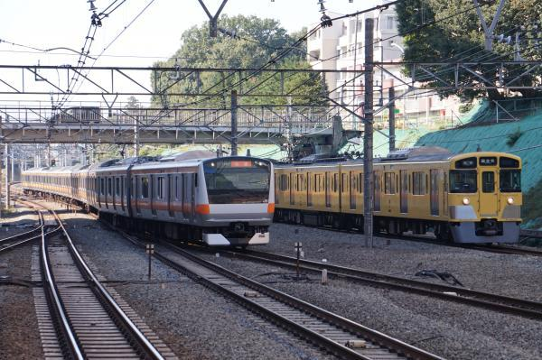 2017-11-05 中央線E233系トタT38編成 西武2053F