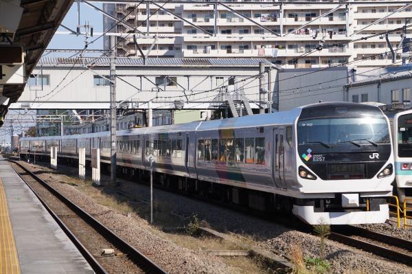2017-11-05 中央本線E257系モトM-102編成 かいじ号甲府行き