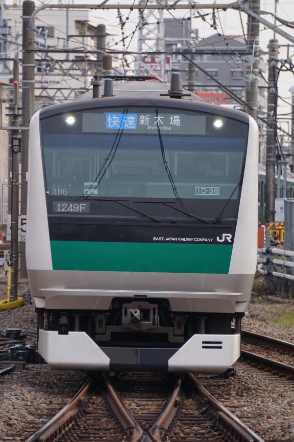 2017-11-13 埼京線E233系ハエ106編成 快速新木場行き