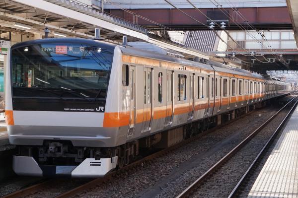 2017-11-13 中央線E233系トタT17編成 快速東京行き