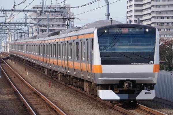 2017-11-13 中央線E233系トタT36編成 快速東京行き