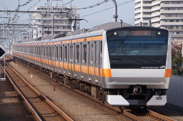 2017-11-13 中央線E233系トタT39編成 快速東京行き