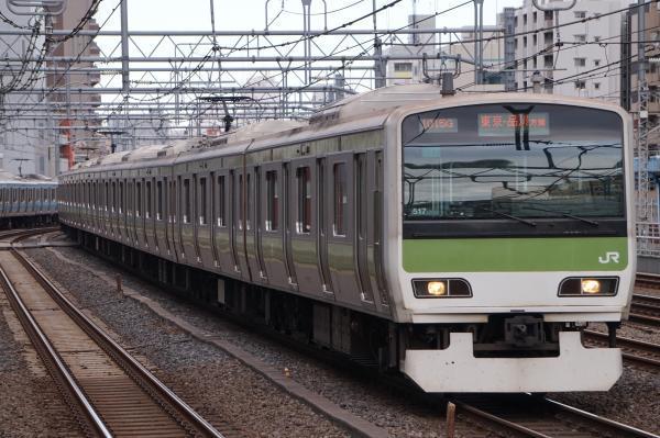 2017-11-19 山手線E231系トウ517編成 東京・品川方面行き