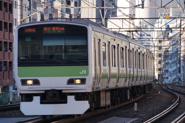 2017-11-19 山手線E231系トウ531編成 品川・東京方面行き