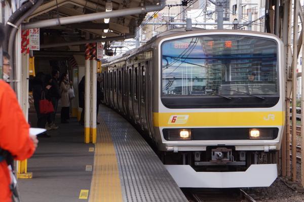 2017-11-19 総武線E231系ミツB28編成 千葉行き1