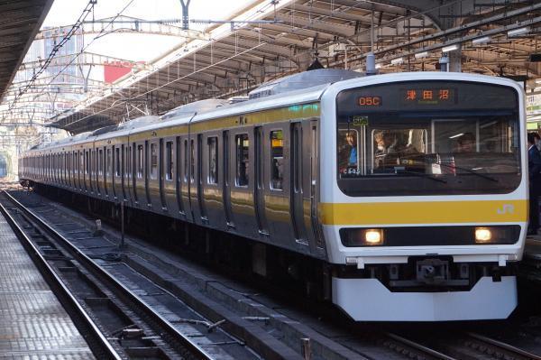 2017-11-25 総武線209系ミツC505編成 津田沼行き