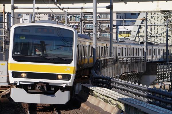 2017-11-25 総武線209系ミツC512編成 津田沼行き