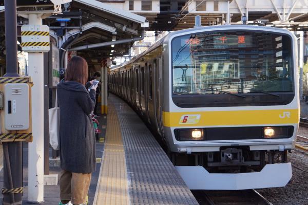 2017-11-25 総武線E231系ミツB7編成 千葉行き1