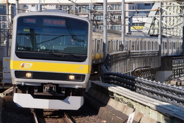 2017-11-25 総武線E231系ミツB17編成 千葉行き1