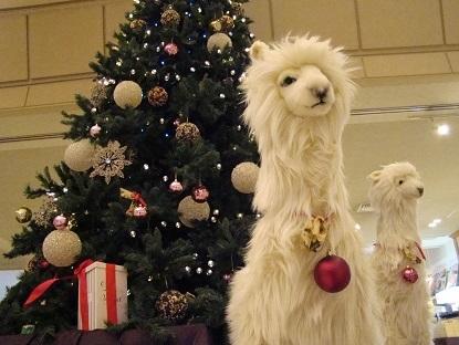 クリスマスツリーアルパカ